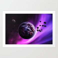 Deep Purple Space Art Print