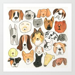 dog lover, dog art Art Print