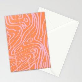 peachy lava print Stationery Cards