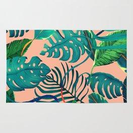 Summer Tropical Leaves Rug