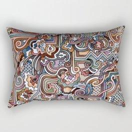 Rayas y rulos Rectangular Pillow