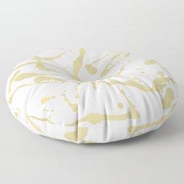 Gold drops Floor Pillow