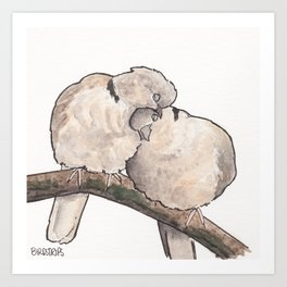 Bird no. 323: Snuggs Art Print