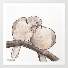 Bird no. 323: Snuggs Art Print