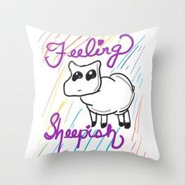Sheepish Drawing Throw Pillow