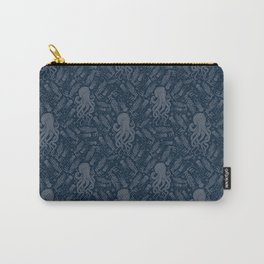 Octopus Squiggly King Of The Sea Pattern Carry-All Pouch