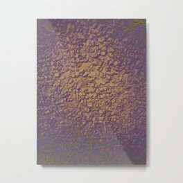 Graphic design or manipulated photography of rough wall texture with gradient colors Metal Print