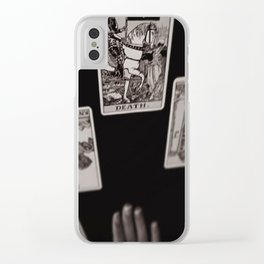 Death Card Clear iPhone Case