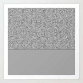 Combo light grey abstract pattern . Art Print