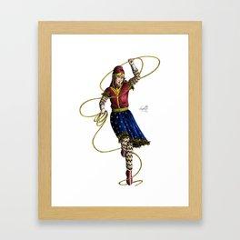 Scythian Woman of Wonder Framed Art Print