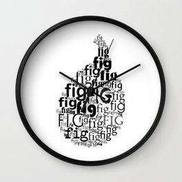Typography fig Wall Clock