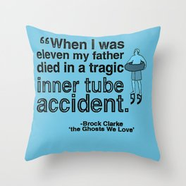 A Tragic Inner Tube Accident Throw Pillow