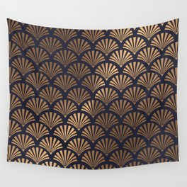 Art Deco Shell Pattern Wall Tapestry