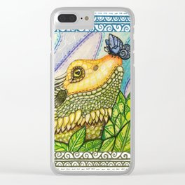 Irene's Bearded Dragon Square Clear iPhone Case