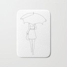 Rain - line minimal art Bath Mat