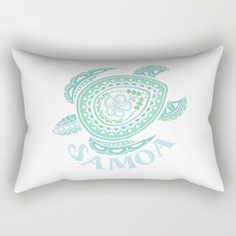 Vintage Samoa Tribal Turtle Rectangular Pillow