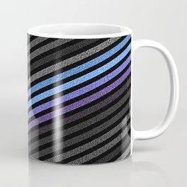 stripES Slate Gray Blue Periwinkle Pixels Coffee Mug