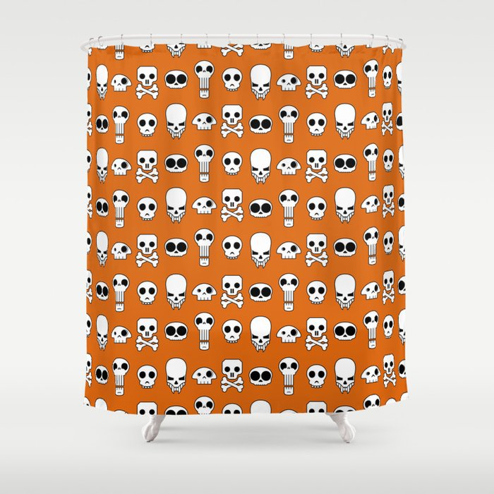 All skulls, all the time. Shower Curtain