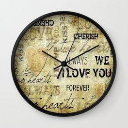 Arrow in the heart Wall Clock