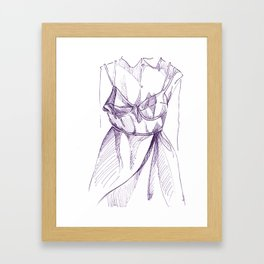Bra-Top Dress Framed Art Print