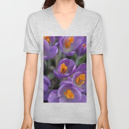 Bunch of Crocus Unisex V-Neck