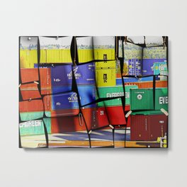 Colorful container wall board Metal Print