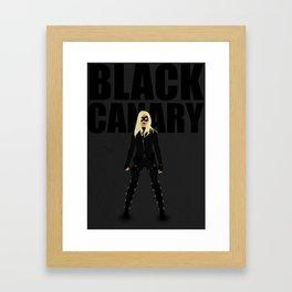 Black Canary Minimalist - (Arrow CW) Framed Art Print