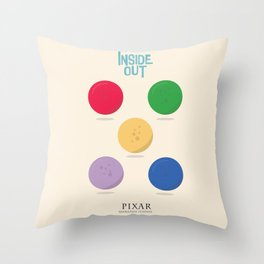 Inside Out - Minimal Movie Poster, animated movie, Throw Pillow