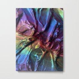 Crinkle Oilslick Metal Print