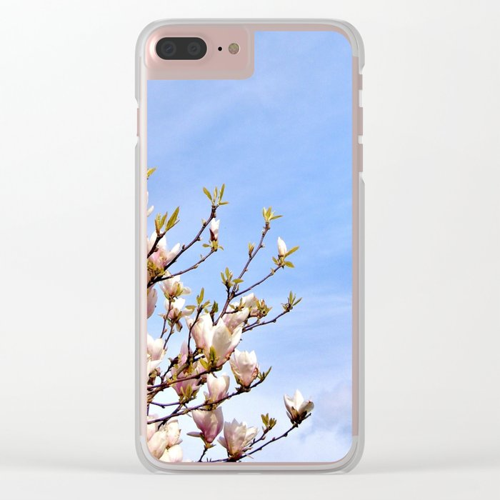 Magnolia In The Sky Clear iPhone Case