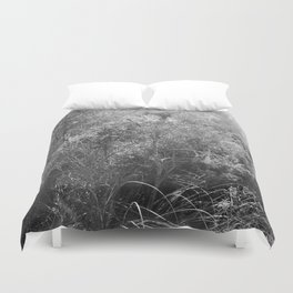 Black and white country forest Duvet Cover