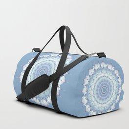 Delicate Mandala pastel ice blue Duffle Bag