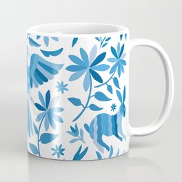 Mexican Otomí Design in Light Blue Coffee Mug