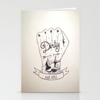 dirty dancing Stationery Cards featuring Dirty - Dirty by simonandrea