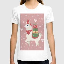 Cute Christmas Llama T-shirt