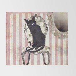 Bad Cat I Throw Blanket
