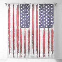 Vintage American flag Sheer Curtain