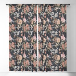 Painterly Floral Blackout Curtain