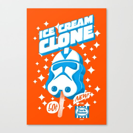 Ice Cream Clone Canvas Print