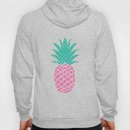 Pink Pineapple Motif Trendy Pine Apple with Polka Dots Tropical Beach Hoody