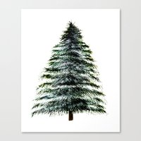 craftberrybush Canvas Prints featuring Evergreen Tree Tapestry by craftberrybush