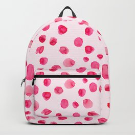 Think pink    Watercolor brushstrokes pattern Backpack