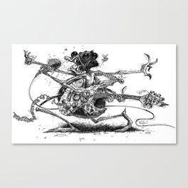 Guitah Spidah Canvas Print