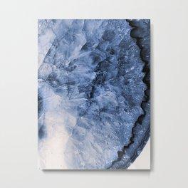 Agate Blue Metal Print