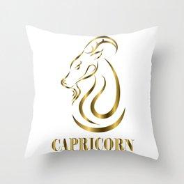 capricorn zodiac sign Throw Pillow