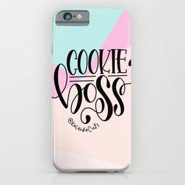 Cookie Boss Color Block Design iPhone Case