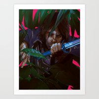 dishonored Art Prints featuring you cannot save her by VPUVWV