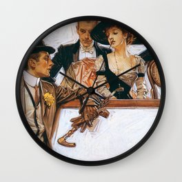 Joseph Christian Leyendecker - Arrow Color - Digital Remastered Edition Wall Clock