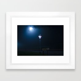 Give Way to the Darkness Framed Art Print