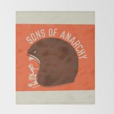 Sons of Anarchy Skull Helmet Throw Blanket
